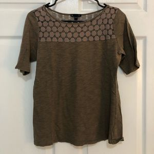 Brown lace T-shirt